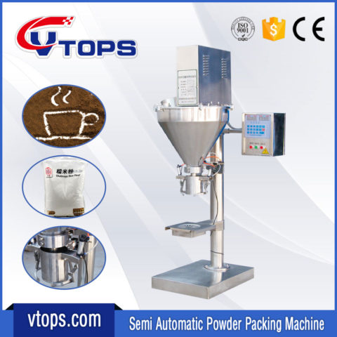 Semi Automatic Powder Packing Machine Equipped Clamp Holding Device