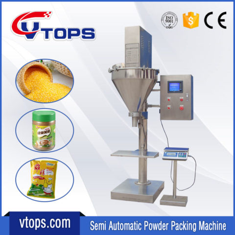 Semi Automatic Powder Packing Machine Equipped Touch Screen